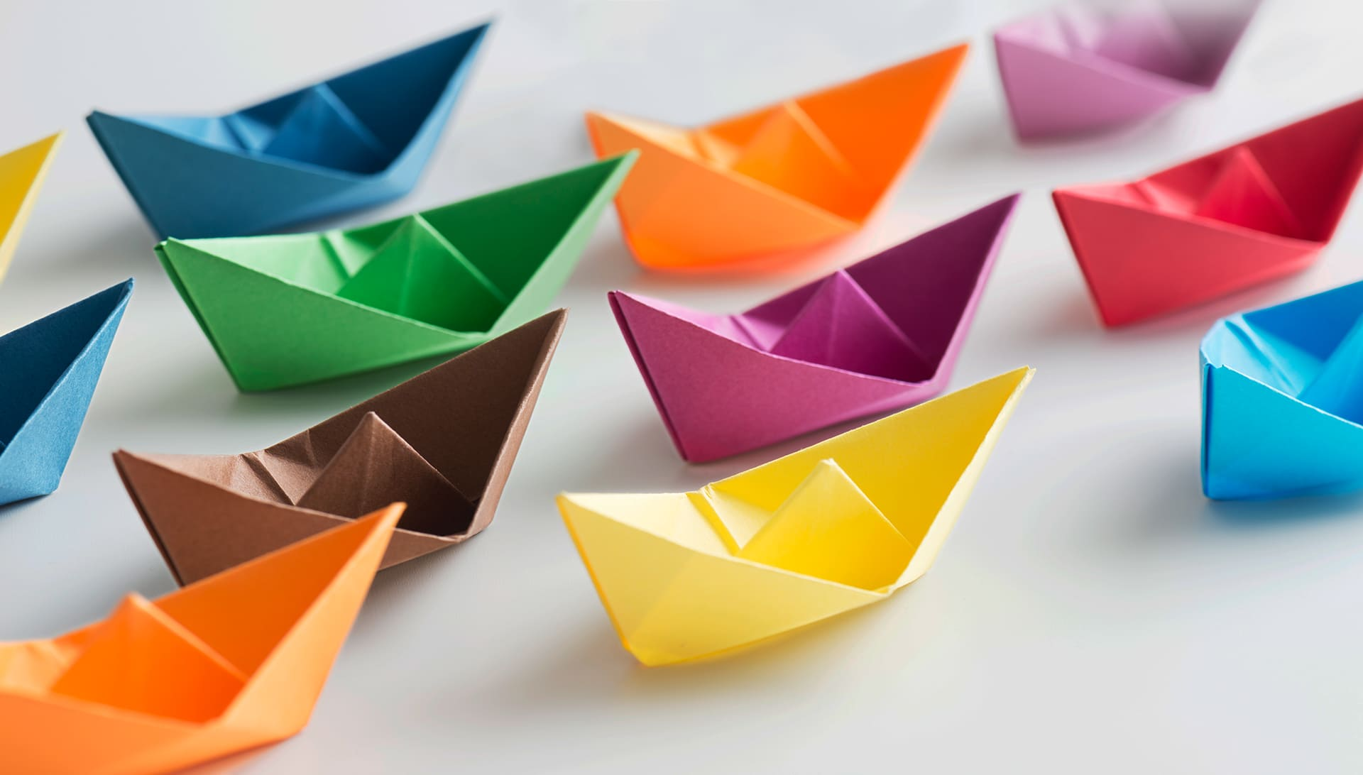 Origami ships