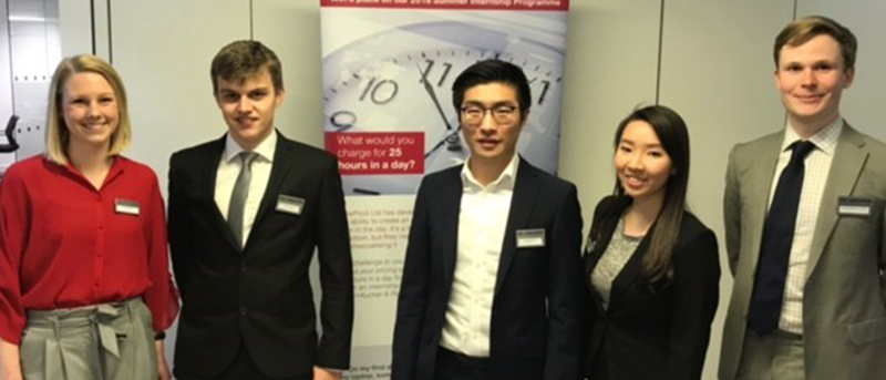 Finalists at Simon-Kucher's Internship Competition 2018