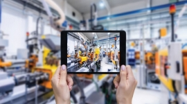 Topline growth through servitisation: Filming a manufacturing scene using a tablet