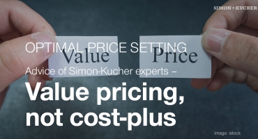 Value pricing, not cost-plus