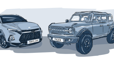 Ford Bronco and Chevy