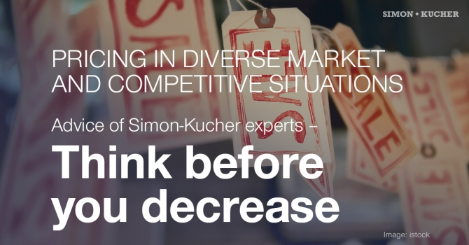 Pricing in diverse market and competetive situations: Think before you decrease