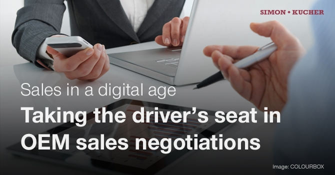 Sales in a digital age - OEM sales negotiation