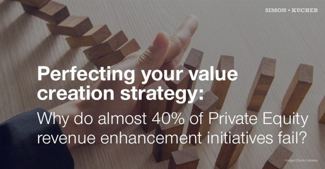 Perfecting your value creation strategy: Why do almost 40% of Private Equity revenue enhancement initiatives fail?