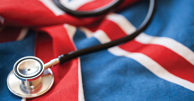 UK flag medical